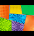 mock-up of colorful comic backgrounds vector image vector image