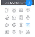 music genres - modern line design style icons set vector image