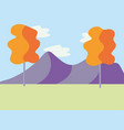 nature park cartoon vector image vector image
