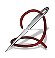 needle with thread vector image vector image
