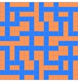 orange blue crossword vector image