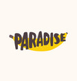 paradise text written with creative funky font on vector image