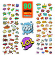 pop art comic speech bubbles collection vector image vector image