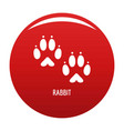 rabbit step icon red vector image
