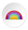 Rainbow LGBT icon cartoon style vector image