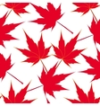 Red maple leaves Seamless pattern Japanese vector image vector image