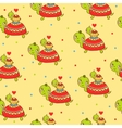 Seamless kids pattern with turtles vector image vector image