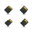 Set memory card vector image vector image