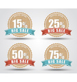 Set of labels for sale vector image vector image