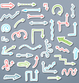 set of paper arrow stickers vector image