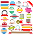 set ribbons labels banners and emblems vector image vector image