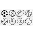 set sport balls icon vector image