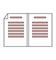 sheet with bent corner vector image vector image