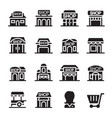 shop building icon vector image vector image