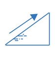 silhouette financial triangle with arrow up to vector image vector image