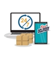 smartphone computer box package icon vector image