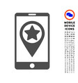 smartphone map pointer icon with set vector image vector image