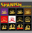 spanish set of number forty-two 42 years vector image vector image