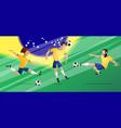 team brazil football soccer players set vector image