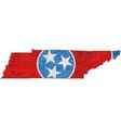Tennessee map with flag inside vector image
