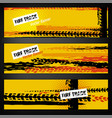 tire banner template vector image vector image