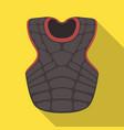 vest baseball baseball single icon in flat style vector image vector image