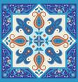 vintage ornamental tile design vector image vector image