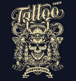vintage tattoo convention in tokio template vector image vector image