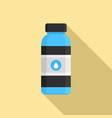 water drink bottle icon flat style vector image