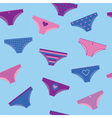 Woman panties seamless pattern vector image