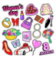 womens day 8 march elements set vector image