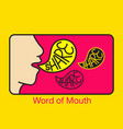 word mouth logo vector image