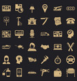work icons set simple style vector image vector image
