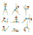yoga Healthy lifestyle vector image