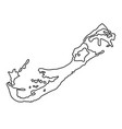 bermuda map of black contour curves on white vector image