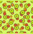 citrus seamless pattern vector image