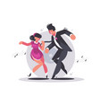 happy couple of guy and girl dancing vector image