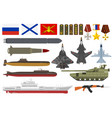 russian army military armored aviation vector image