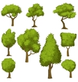 Set of funny cartoon trees vector image