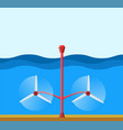tidal power station clean renewable energy vector image