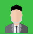 elder man simple flat portrait vector image