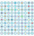 100 camera icons set cartoon style vector image vector image