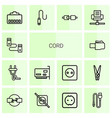 14 cord icons vector image vector image