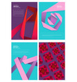 abstract magazine covers modern colored shapes vector image vector image