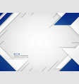 abstract of futuristic blue and white geometric vector image vector image