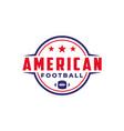 american football sport logo with gridiron ball vector image vector image