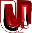 Artistic font letter u vector image vector image