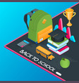 back to school isometric concept 05 vector image vector image