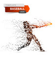 baseball player - color dot on the vector image vector image