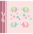 Beautiful baby greeting card vector image